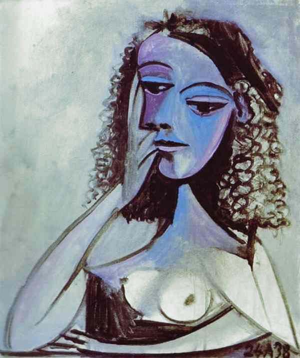 Картина Пабло Пикассо. Нюш Элюар. 1938