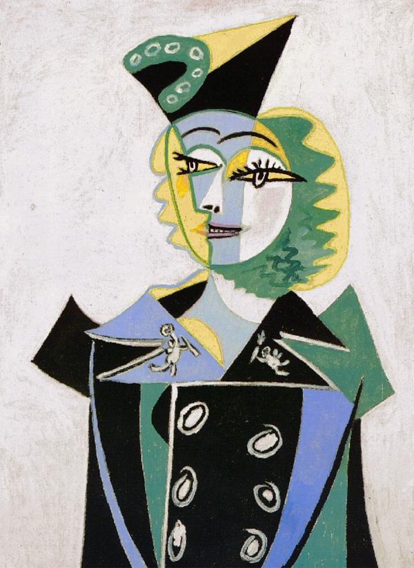 Картина Пабло Пикассо. Портрет Нюш Элюар. 1937