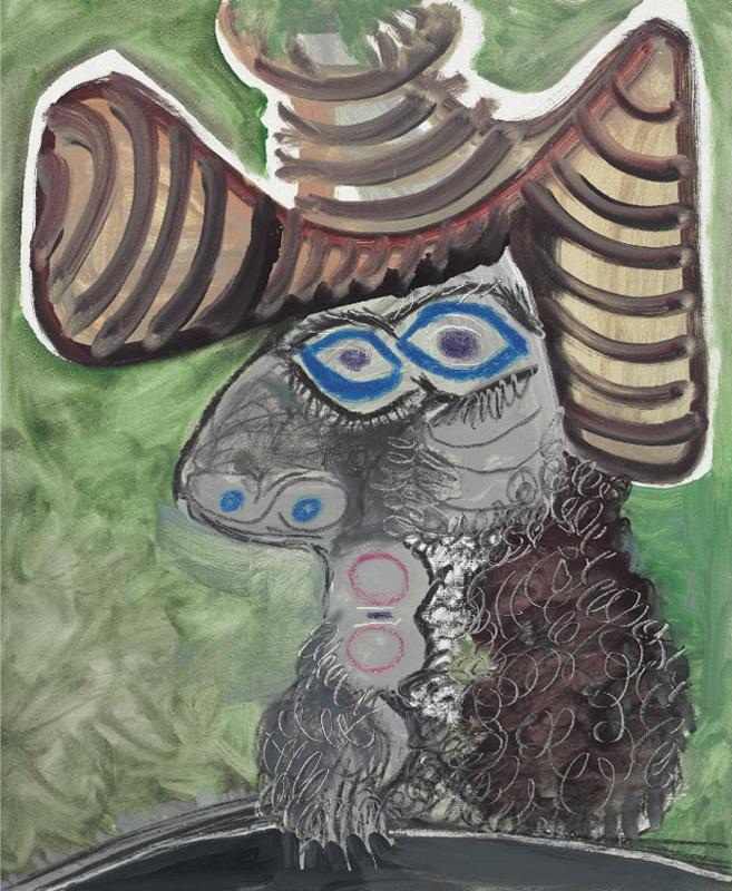 Картина Пабло Пикассо. Голова человека. 1972 ($4,87 млн)