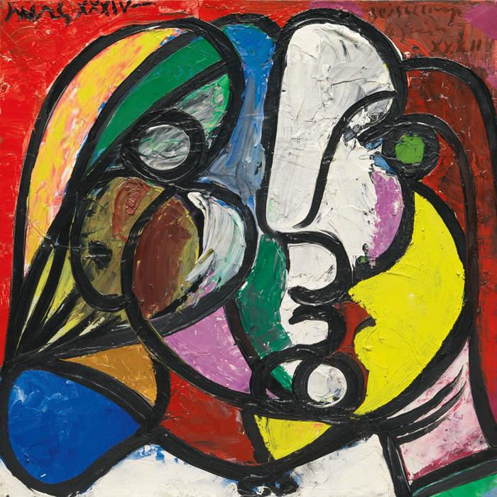 Картина Пабло Пикассо. Голова Марии-Терезы. 1934