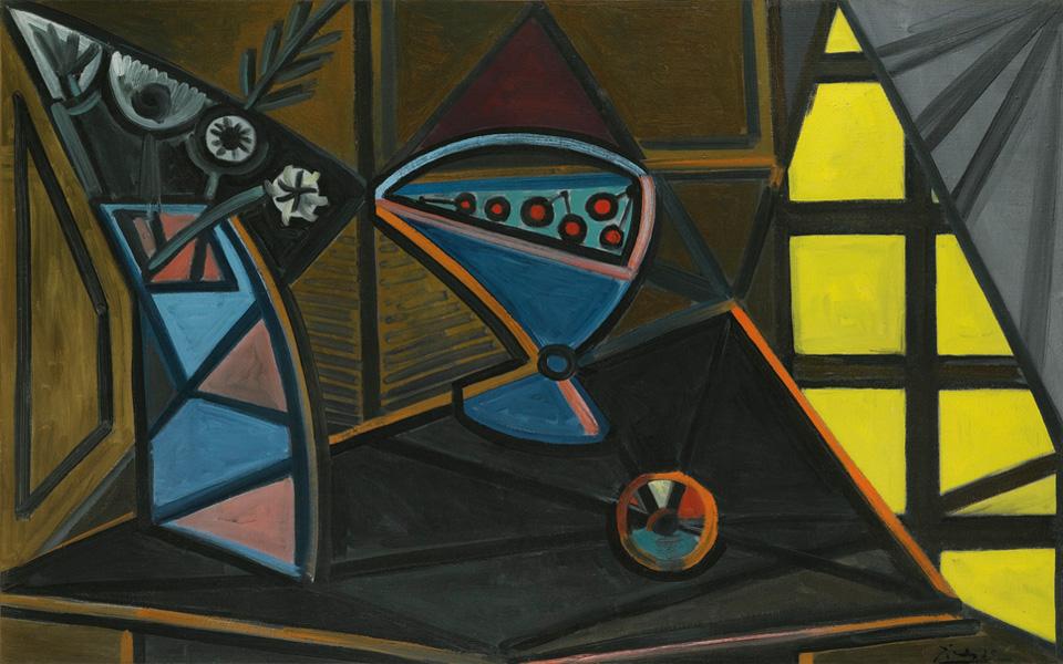 Картина Пабло Пикассо. Ваза с цветами и блюдо с фруктами. 1943 ($6,88 млн)