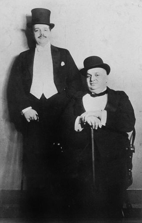 Фото Сергея Дягилева и Альфреда Cелигсберга,  1916