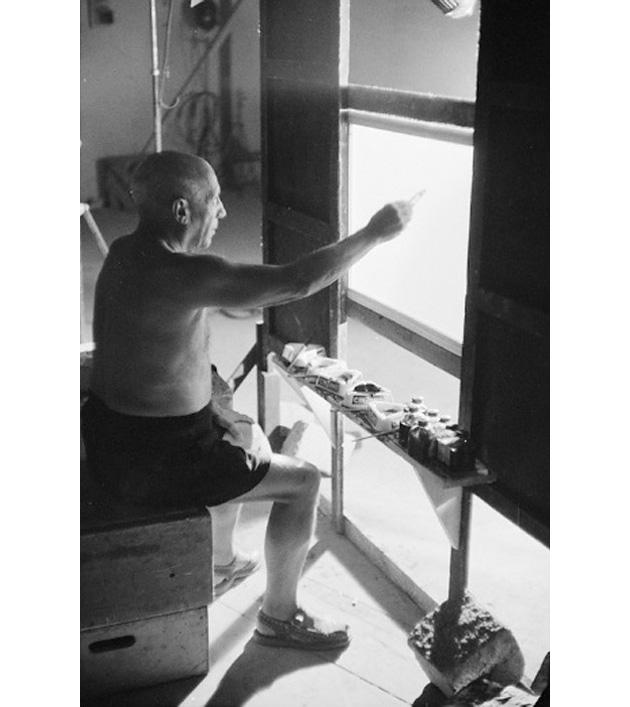 Эдвард Куинн, фото со съемок фильма Мистерия Пикассо