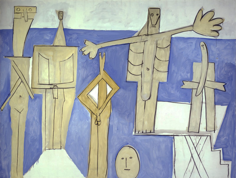 Картина Пабло Пикассо. Купальщики в Ла Гаруп. 1957