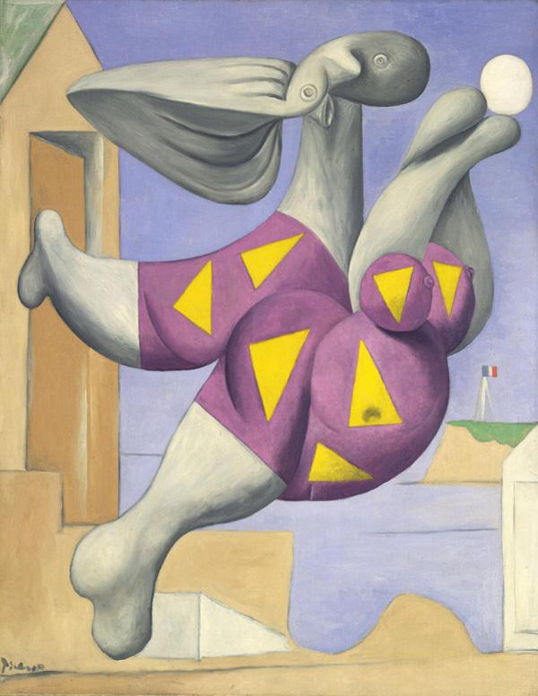 Картина Пабло Пикассо. Купальщица с мячом на пляже. 1932