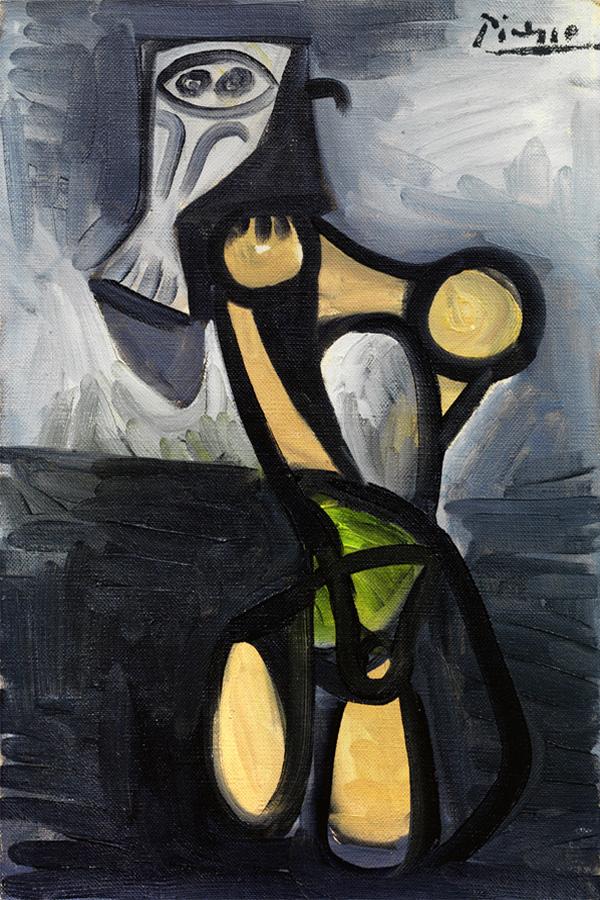 Картина Пабло Пикассо. Сова на стуле 2. 1947