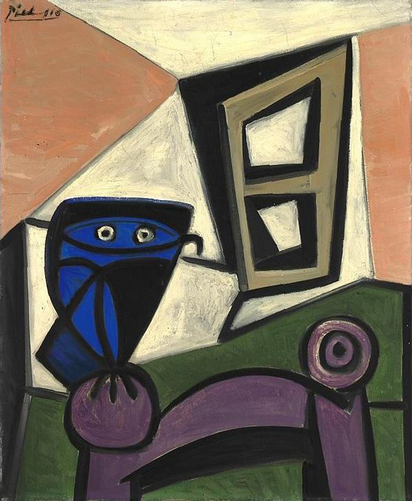 Картина Пабло Пикассо. Сова на стуле 3. 1947