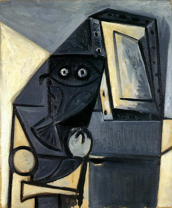 Картина Пабло Пикассо. Сова на стуле 4. 1947