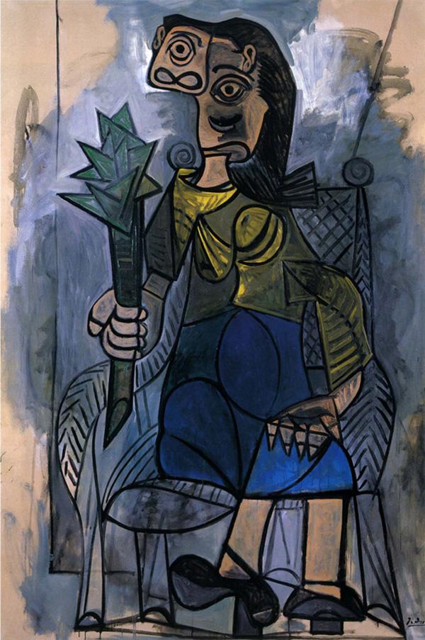 Картина Пабло Пикассо. Женщина с артишоком. 1941