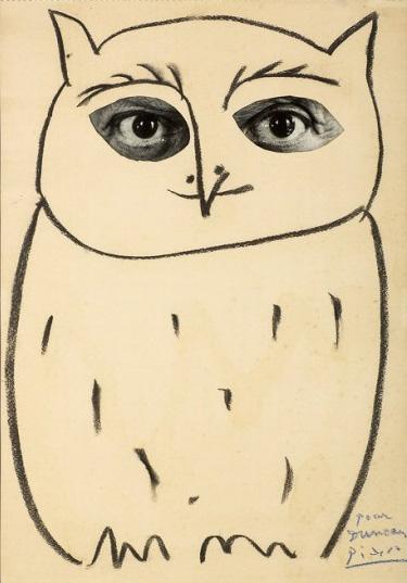 Пикассо в маске совы, вилла Ла Калифорния, Канны, 1957. Фото — Дэвид Дуглас Дункан