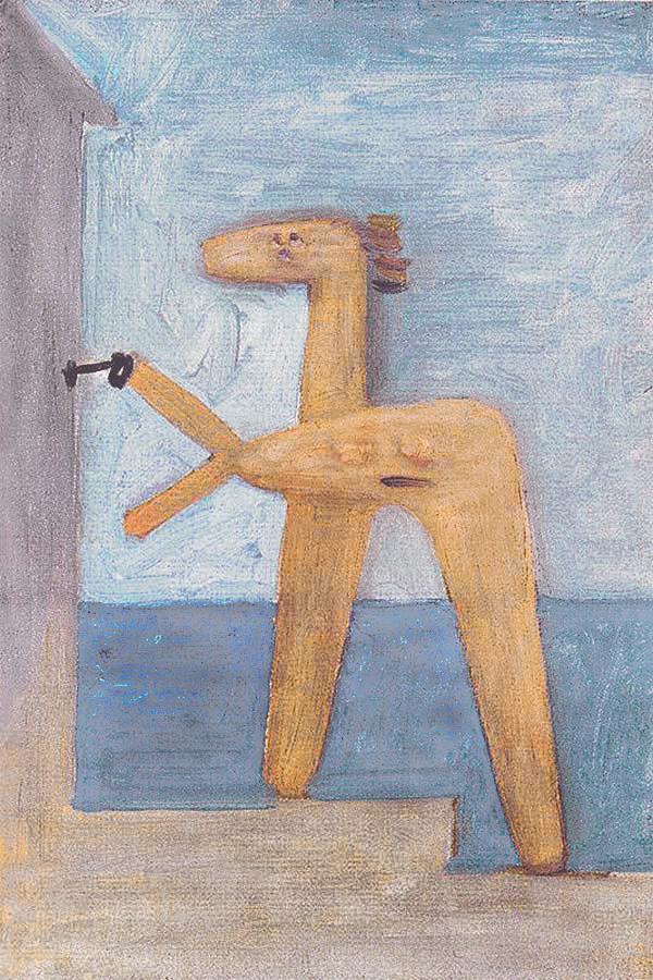 Картина Пабло Пикассо. Купальщица, открывающая кабинку. 1928