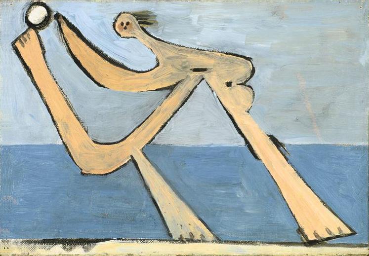 Картина Пабло Пикассо. Купальщица. 1928