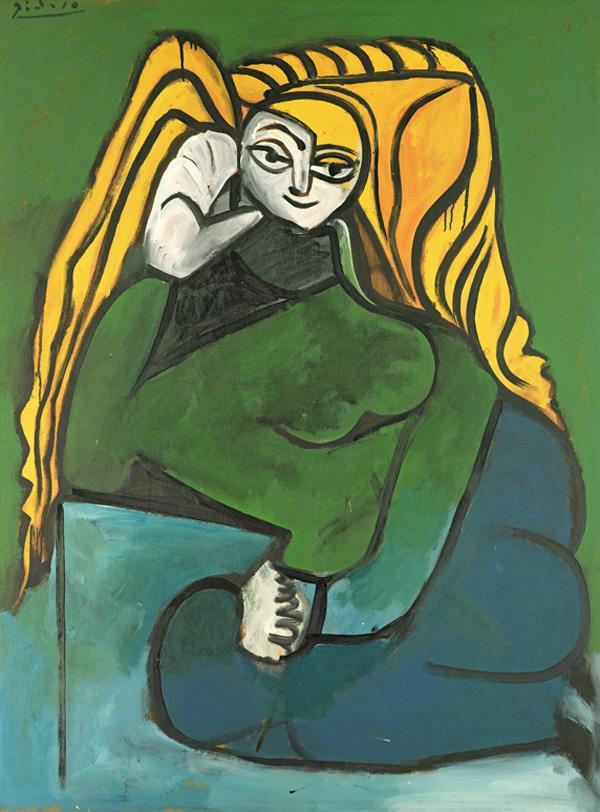 Картина Пабло Пикассо. Элен Пармелен. 1952