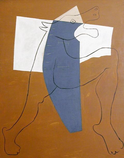 Картина Пабло Пикассо. Минотавр бегущий. 1928