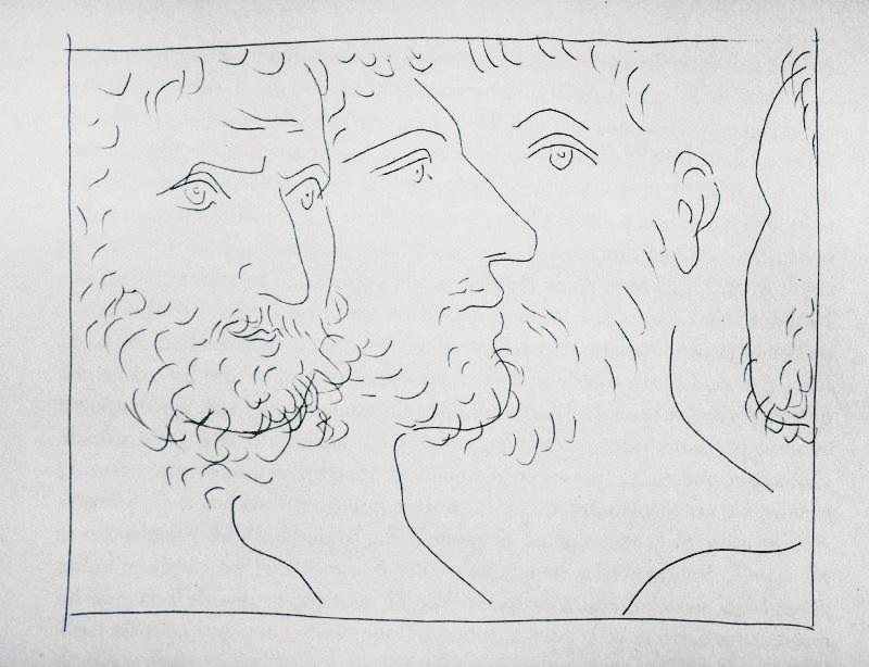 111_Quatre-Tetes-d-hommes_Picasso_Les-Metamorphoses-by-Ovid