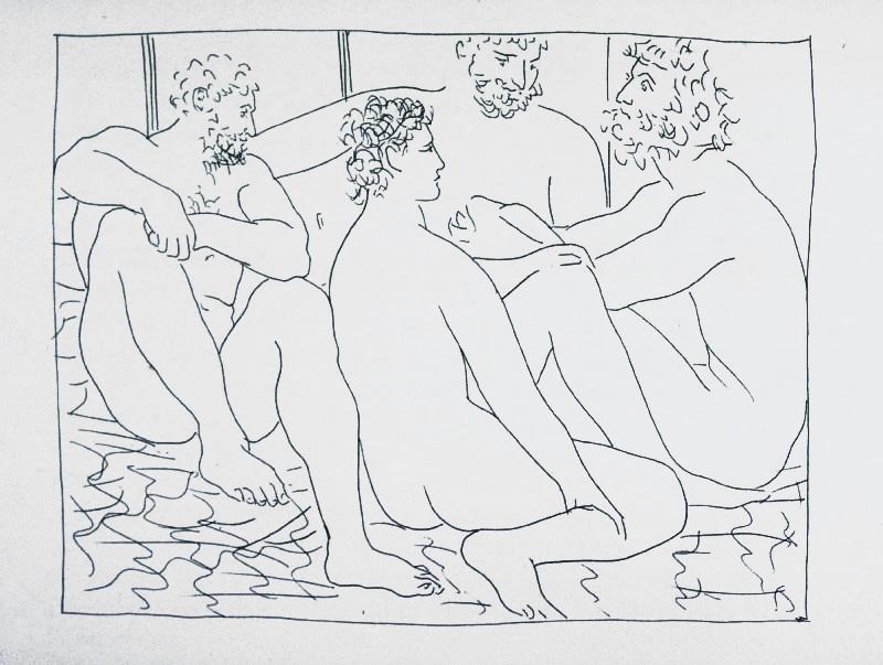 157_Quatre-hommes-nus-assis_Picasso_Les-Metamorphoses-by-Ovid