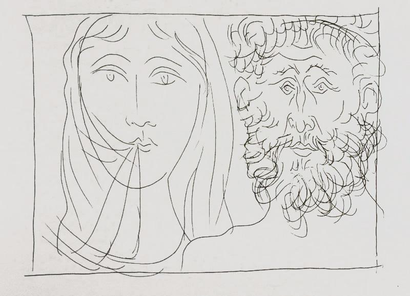 185_Tetes-d-homme-Barbu-et-de-femme-Voilee_Picasso_Les-Metamorphoses-by-Ovid