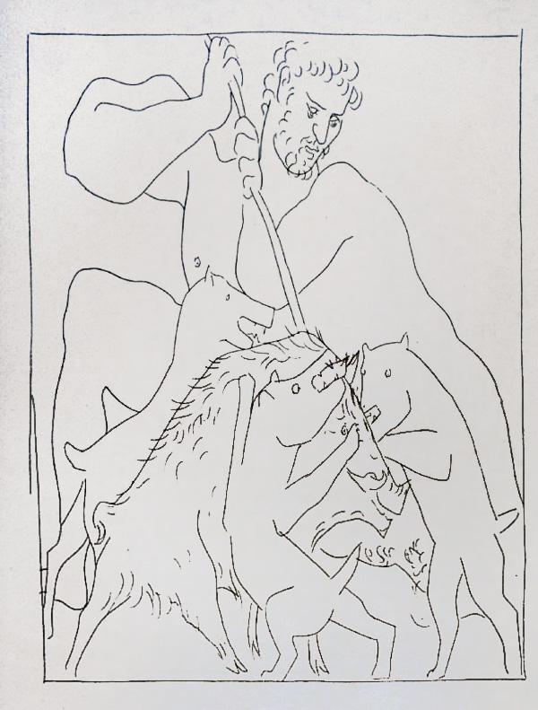 198-199_Meleagre-tue-le-Sanglier-de-Calydon_Picasso_Les-Metamorphoses-by-Ovid