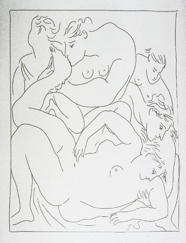 248-249_Eurydice-piquee-par-un-serpent_Picasso_Les-Metamorphoses-by-Ovid