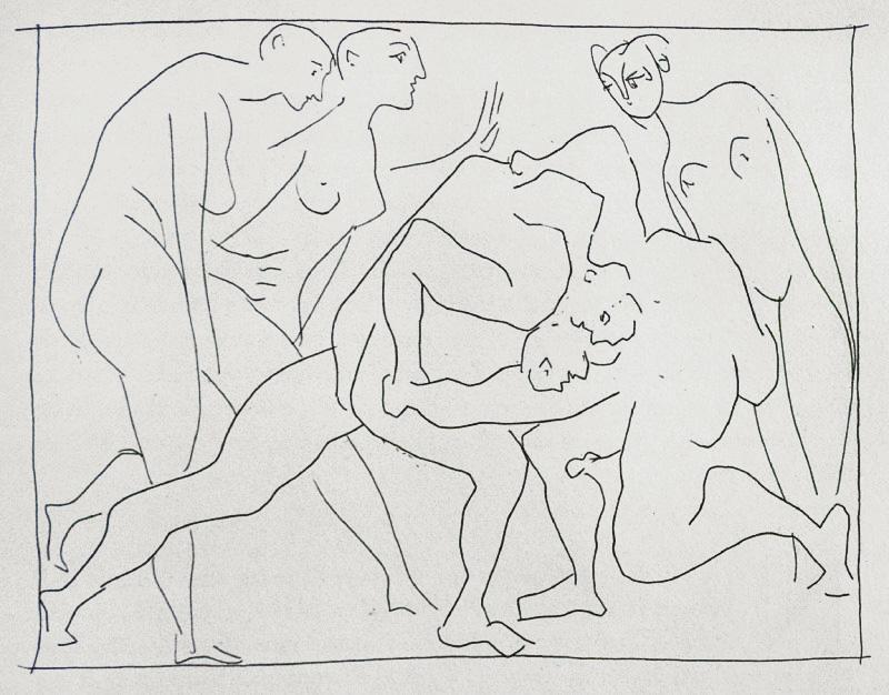 289_Deux-Lutteurs-observes-par-trois-femmes-nues_Picasso_Les-Metamorphoses-by-Ovid