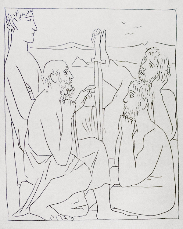 316-317_Recits-de-Nestor-sur-la-Guerre-de-Troie_Picasso_Les-Metamorphoses-by-Ovid