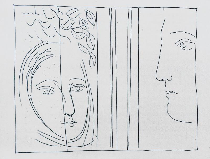 33_Profil-et-tete-de-femme_Picasso_Les-Metamorphoses-by-Ovid