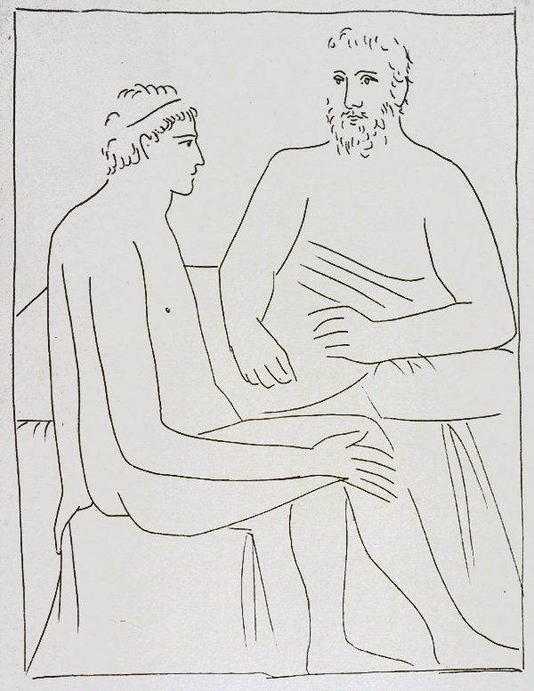 384-385_Numa-suit-les-cours-de-Pythagore_Pablo-Picasso_Les-Metamorphoses-by-Ovid
