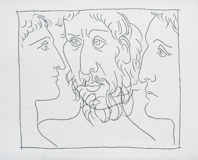 7_Trois-tetes-d-hommes_Pablo-Picasso_Les-Metamorphoses-by-Ovid