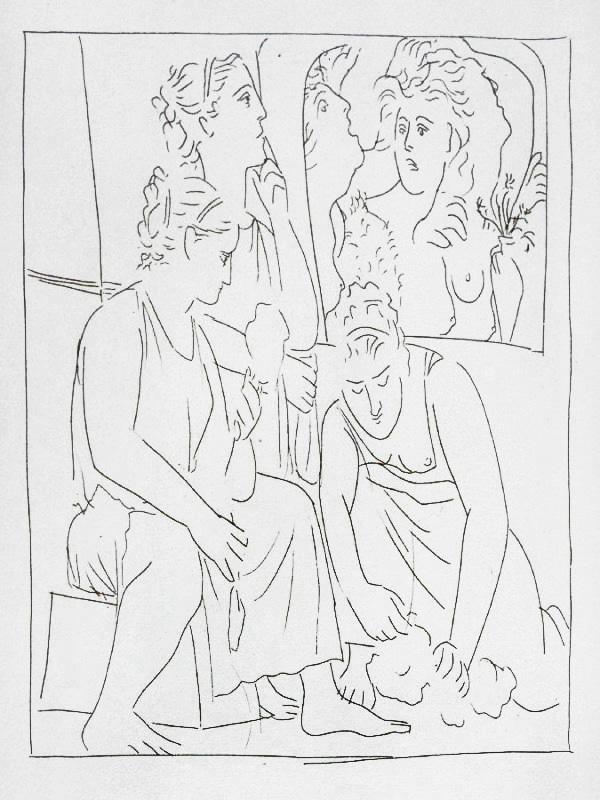 98-99_Les-filles-de-Minyas-refusent-de-reconnaître-le-dieu-Bacchus_Pablo-Picasso_Les-Metamorphoses-by-Ovid