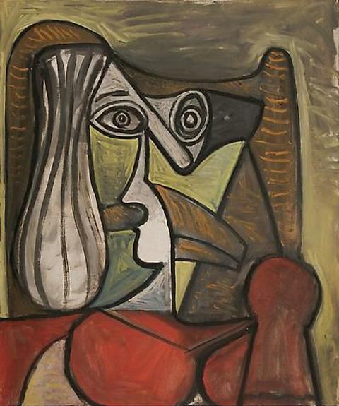 Картина Пабло Пикассо. Бюст женщины в кресле. 1949