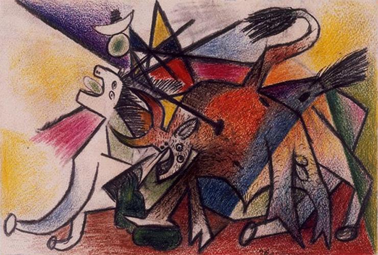 Картина Пабло Пикассо. Коррида. 1935