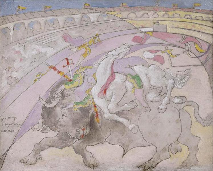 Картина Пабло Пикассо. Коррида, или смерть женщины тореадора. 1933