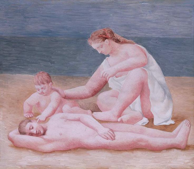 Картина Пабло Пикассо. Семья на море. 1922