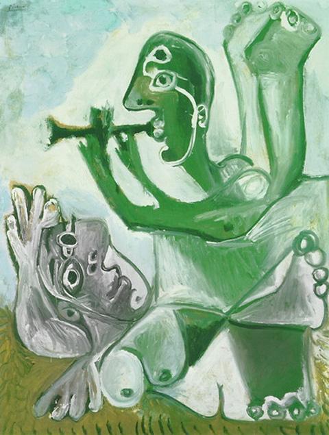 Картина Пабло Пикассо. Серенада. 1967