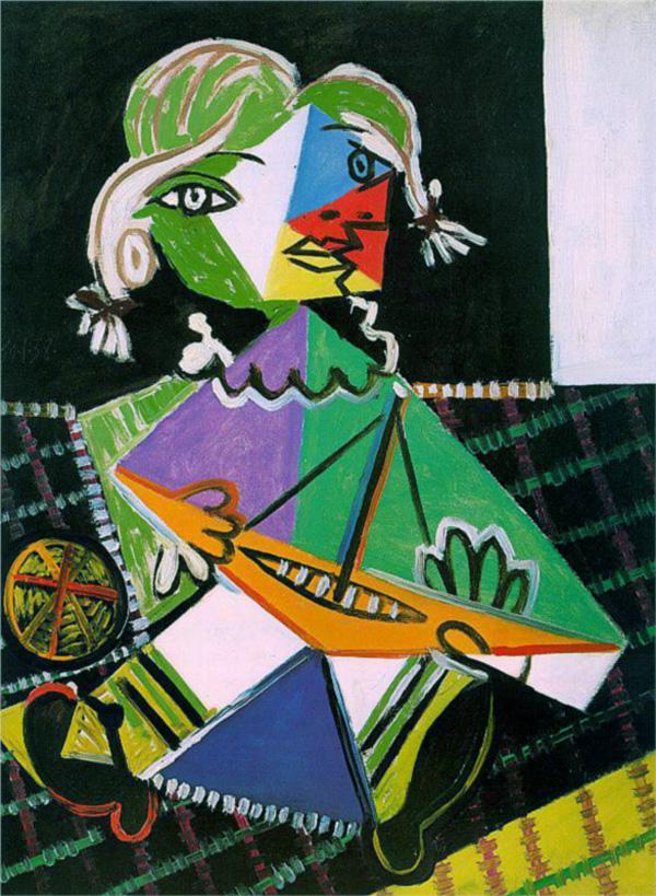 Картина Пабло Пикассо. Майя с корабликом. 1938