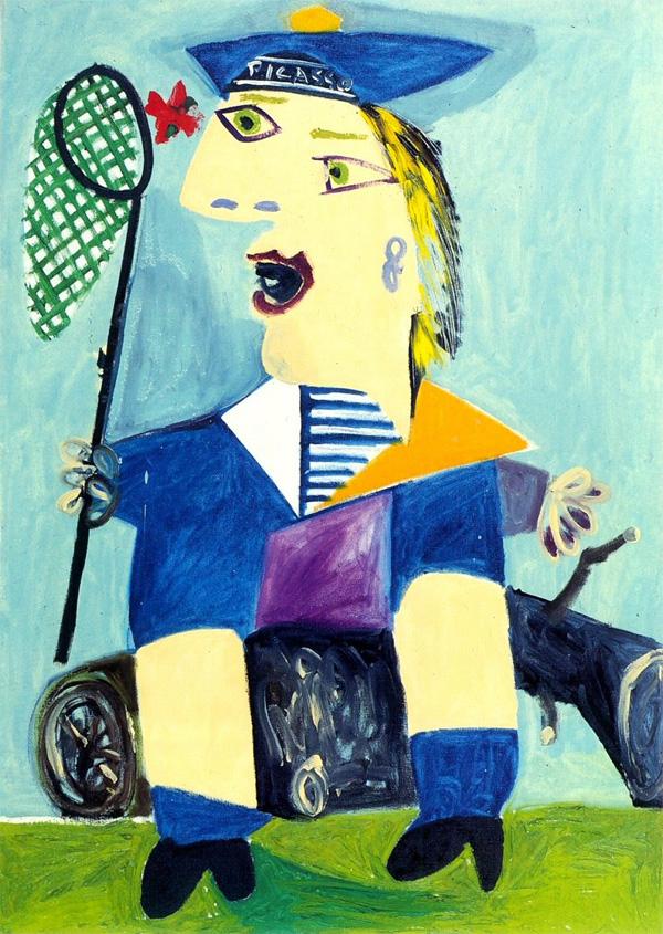 Картина Пабло Пикассо. Майя в матроске. 1938