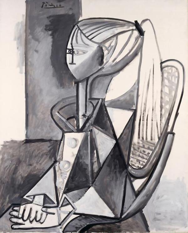 Картина Пабло Пикассо. Портрет Сильветт. 1954