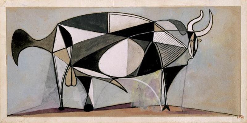 Картина Пабло Пикассо. Бык. 24-25 декабря 1945