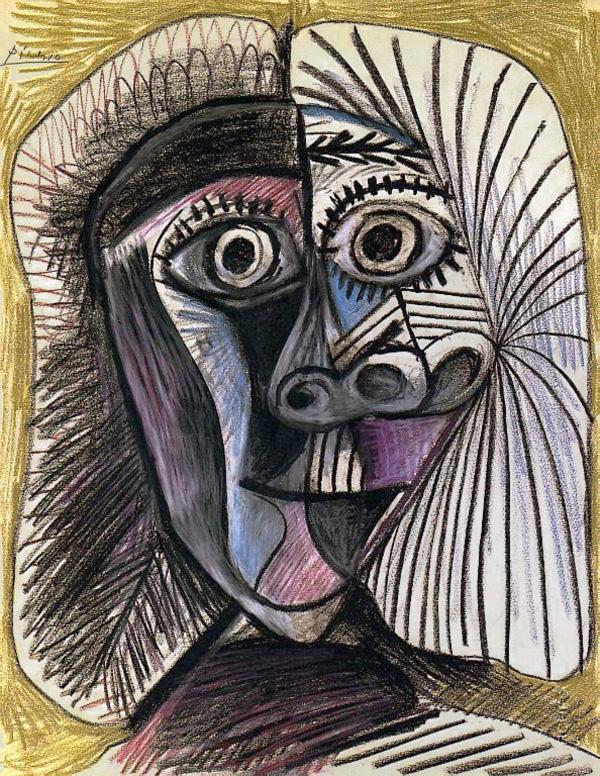 Картина Пабло Пикассо. Голова. 1972