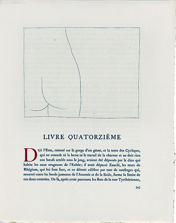 Page-of-book_Les-Metamorphoses-by-Ovid_with-etchings-by-Pablo-Picasso_1931