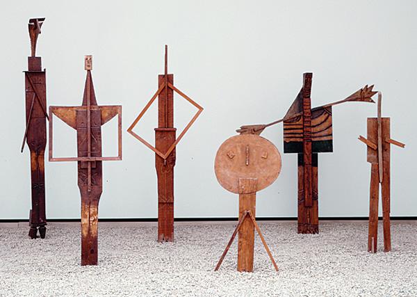Sculpture Pablo Picasso Les Baigneurs (The Bathers) 1956 wood
