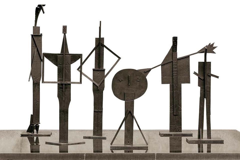 Sculpture Pablo Picasso Les Baigneurs (The Bathers) 1956 bronze