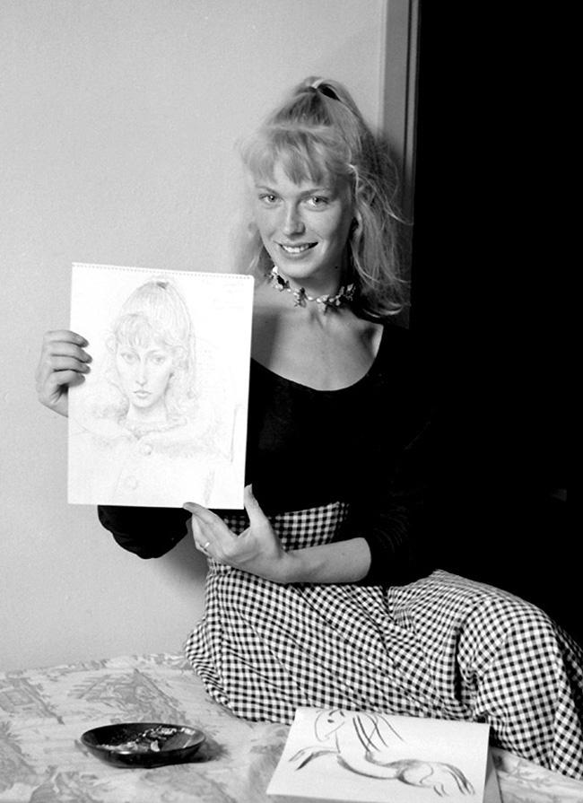 Сильветт Давид, модель Пикассо, Валлорис, 1954, фото Эдварда Куинна