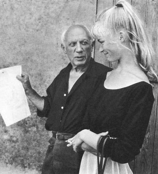 Пабло Пикассо и Сильветт Давид, Валлорис, 1954. Тоби Еллинек, фото 1