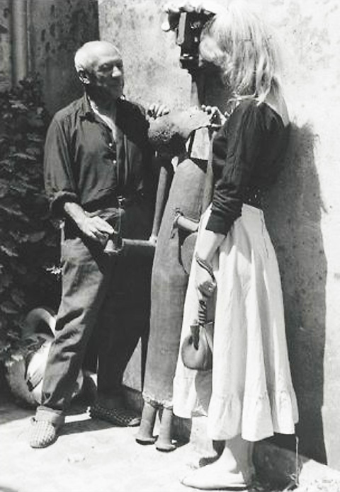 Пабло Пикассо и Сильветт Давид, Валлорис, 1954. Тоби Еллинек, фото 2