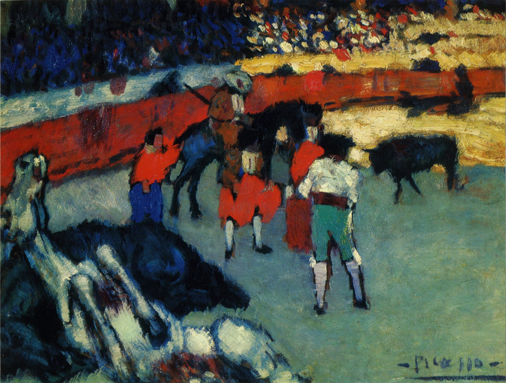 Картина Пабло Пикассо. Коррида 2. 1901