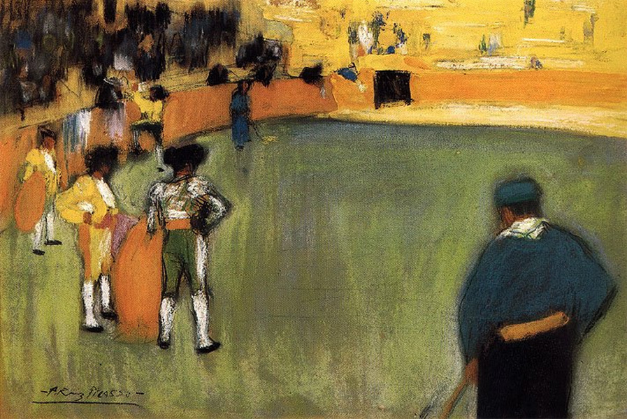 Картина Пабло Пикассо. Коррида 3. 1901