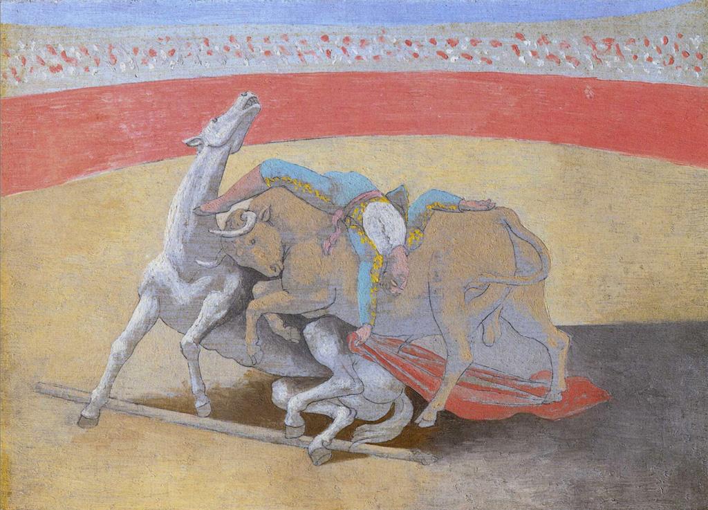 Картина Пабло Пикассо. Коррида. 1922