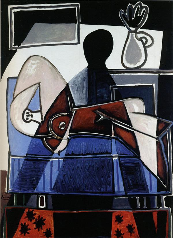 Картина Пабло Пикассо. Тень, падающая на женщину. 1953
