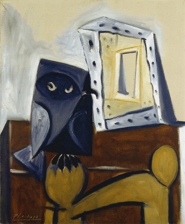 Картина Пабло Пикассо. Сова на стуле 5. 1947
